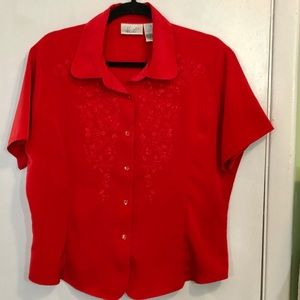 Kathie Lee Embroidered Blouse